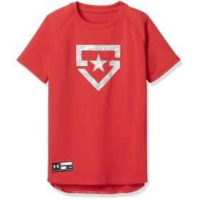 (アンダーアーマー)UNDER ARMOUR ベースボールTシャツSOLID(ベースボール/Tシャツ/BOYS)[1313615] RED YXL