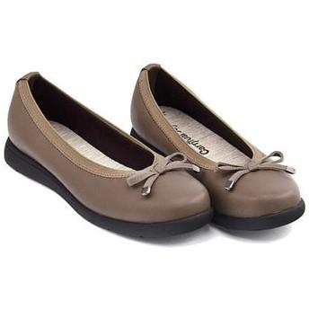 [カーニバルジョイ] レディース バレエシューズ 疲れない 歩きやすい 軽量 クッション性 美脚 カジュアル デイリー トレンド 187030 オーク 24.0cm