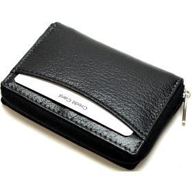 [メンズ カンパニー]Men's company 薄型 コインケース パスカード入れ付き 小銭入れ (ブラック ブラック)