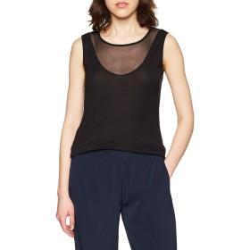 [シスレー] SISLEY トップス ネット切り替えノースリーブTシャツ・カットソー レディース ブラック S(国内M相当)