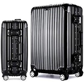 Osonmアルミニウムマグネシウム合金製 スーツケース キャリーバッグ 機内持ち込みスーツケース TSAロック 自在車 キャスター 5色6013 (S, ブラック)