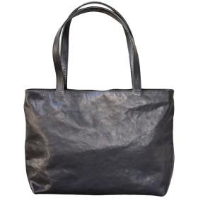 栃木レザー トートバッグ 本革 鞄 (Black)