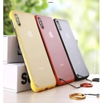 iPhone ケース カバー スマホケース クリアケース リング付き 赤 黄 青 黒 X Xs XR Xsmax YN-6-122