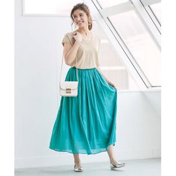 【ur's:スカート】コットンボイルボリュームスカート