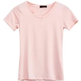 [コウエイストア]koeistore Tシャツ Vネック カットソー 無地 インナーウエア レディース ライトピンク Y3001-b-lpk Bタイプ