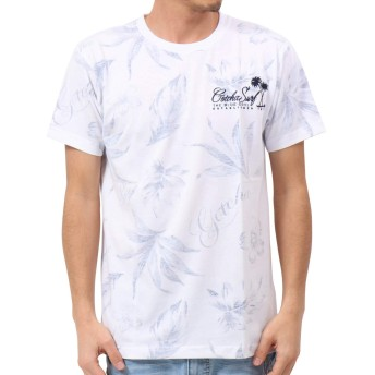 [ガッチャ] GOTCHA Tシャツ ボタニカル柄 裏プリント TEE 192G1005 ネイビー XXXL