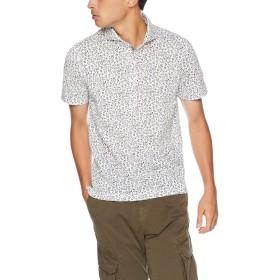 (メンズビギ) MEN'S BIGI フラワープリント鹿の子ポロシャツ M ホワイト