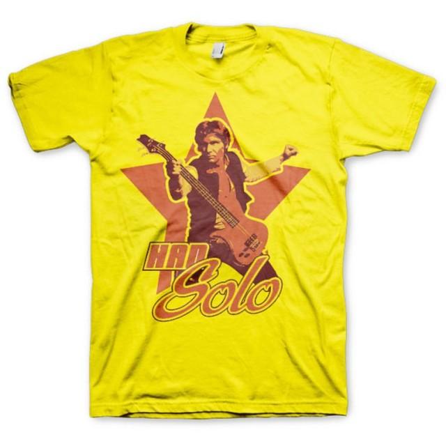 Star Wars T Shirt Han Solo 新しい 公式 メンズ イエロー