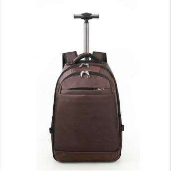 suwe 3way キャリーバッグ キャスター付きリュック リュック スーツケース ソフトキャリー 機内持ち込み キャリーケース 超軽量 大容量 ビジネスリュック キャスター バッグ スーツ 通勤 旅行 出張 お出かけ ノートPC iPad 収納 男女兼用 ブラウン