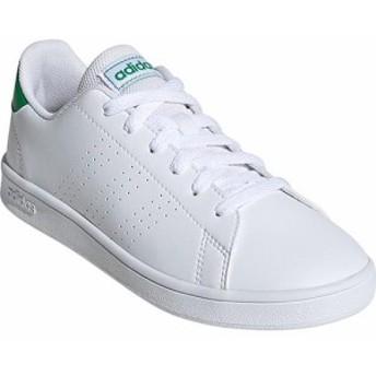 アディダス(adidas) ジュニア スニーカー アドヴァンコート ADVANCOURT K ホワイト/グリーン/グレーTWO EPG24 EF0213 【カジュアルシュ