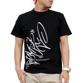 (アスナディスペック)ASNADISPEC tシャツ メンズ 大きいサイズ ティシャツ 半袖Tシャツ BIG タギング 柄 バックプリント イラスト ロゴ logo ストリート ブランド プリント t-シャツ as-rem-1708 (M, BLACK)