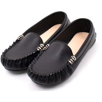 [Shoes in closet] 軽くて履き心地抜群!シンプルなデザインでパンツスタイルにもスカートにも似合う!【レディース 痛くない フラットシューズ パンプス モカシン ローファー】【7948】