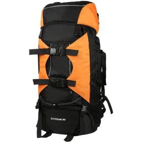 PHOENIX IKKI 80L 大容量 豊富なポケット 長期旅行 海外旅行 防災 キャンプ 登山ザック リュックサック バックパック レインカバー付き オレンジ