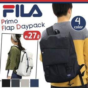 FILA フィラ プリモ フラップ リュック デイパック リュックサック バックパック メンズ レディース 男女兼用 ブラック