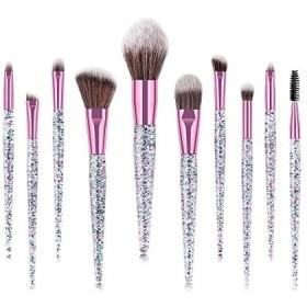 szthestore 化粧 ブラシ セット 10個 プロフェッショナル 化粧品 メイク ブラシ キット ブリンブリン グリッター