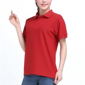 [もうほうきょう] ポロシャツ 夏 半袖 レディース メンズ 作業服 スーパーTシャツ 印刷販売Tシャツ ファストフード店スタッフポロシャツ (レッド, L)