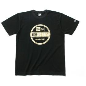 (ニューエラ) NEW ERA Tシャツ バイザーステッカー ブラック/ゴールド S