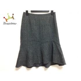 エムズグレイシー M'S GRACY スカート サイズ38 M レディース グレー×黒 ラメ   スペシャル特価 20191003