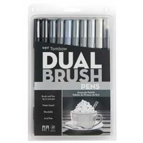 Tombow Dual Brush Pens 10/Pkg-Gray Scale (並行輸入品)
