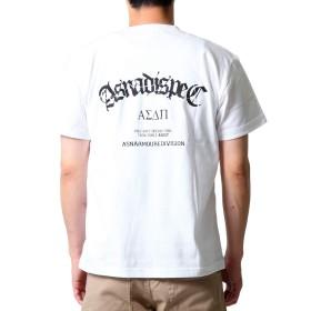 (アスナディスペック)ASNADISPEC メンズ 半袖 tシャツ asndsp ロゴtシャツ 大きいサイズ asst2221 (L, WHITE)