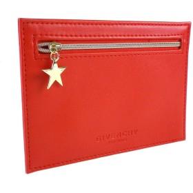 (ジバンシー) GIVENCHY ポーチ 小物入れ 赤 レッド ロゴ ミニ スマート スリム 星 スター ロゴ 化粧 メイク コスメ