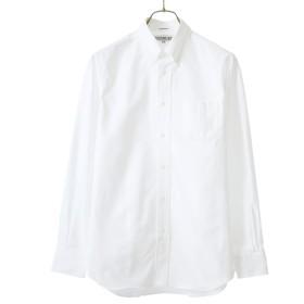 INDIVIDUALIZED SHIRTS/インディビジュアライズド シャツ:別注L/S Standard Fit Cambridge OX B.D shirts -MBDM-:別注 長袖 ケンブリッジ オックスフォード ボタンダウン シャツ 白シャツ メンズ:15 ホワイト