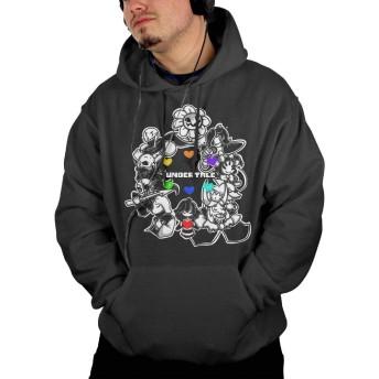 アンダーテール ゲーム キャラ RPG 集め パーカー メンズ オーバー フード付き 薄い シンプル トップス 男性 春秋冬 通勤 通学