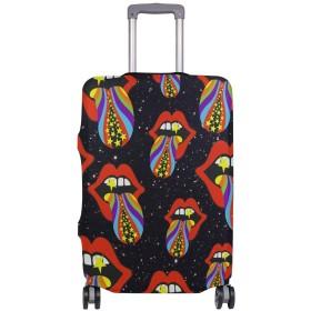 スーツケースカバー 荷物カバー 口 舌 伸縮素材 ラゲッジカバー 防塵 擦り傷防止 トラベルアクセサリ 旅行