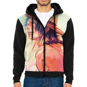 ファッション メンズ ジャケット パーカー ジッパー T シャツ長袖春秋冬のコートは通勤 通学 運動メンズ コート カンガルー ポケットを ワンピース Ace 印刷しますM 。