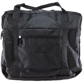 折りたたみ 旅行バッグ ボストンバッグ キャリーオンバッグ 収納ポーチ付 大容量 32L 機内持込可 スーツケース固定可 (ブラック)