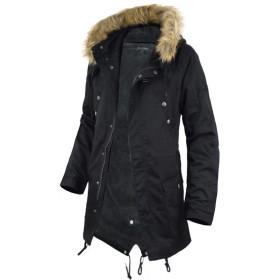 (ラグタイム セレクト) Ragtime Select モッズコート メンズ コート モッズ ボア 裏ボア ファー ミリタリー ハーフコート 暖か 冬 防寒 A251025-01 ブラック L