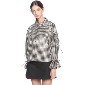 (ウィゴー)WEGOギンガムチェックリボンシャツ BR17AU09-L002 ブラックチェック1 F