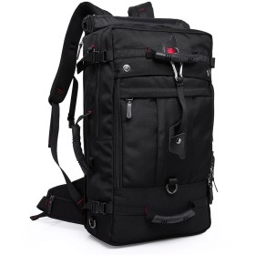 KAKA アウトドア 登山用バッグ リュックサック オックスフォード 50L KAKA-2070 ブラック