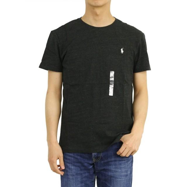 (ポロ ラルフローレン) POLO Ralph Lauren メンズ 無地 クルーネック Tシャツ ワンポイント 0107218-S-BLACKHTR [並行輸入品]