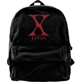 メンズ デイパック X Japan X Rock Music リュック バックパック 通勤 おしゃれ お出かけ 軽量 Black One Size