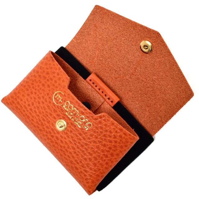 池之端銀革店 COM-ONO コンパクトミニ 財布 TINY SERIES 001(オレンジ) 日本製 小銭入れ 財布革