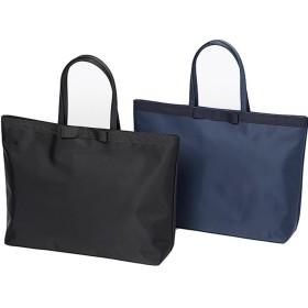 ノーブルシリーズ 完全自立型 高級ナイロンサテンサブバッグ(選べるリボン・デイリーサイズ・紺) (ステッチリボン)