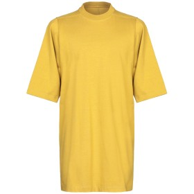《9/20まで! 限定セール開催中》RICK OWENS メンズ T シャツ オークル XS コットン 100%