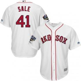 マジェスティック Majestic メンズ トップス 2018 World Series Champions Replica Boston Red Sox Chris Sale Cool Base Home White Jersey
