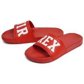 (アビレックス) AVIREX BANSHEE バンシー サンダル シャワーサンダル メンズ レディース アウトドア サンダル コンフォート 靴 25cm(24.5-25cm相当) Red レッド 赤色