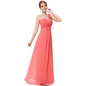 Ever-Pretty レディース スリムライン マキシ丈 シフォン パーティー 結婚式 ロングドレス 大きいサイズ ロングイブニングドレス