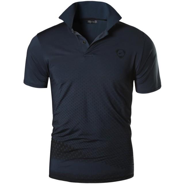 (ジーンズイアン)Jeansian 男性用 ファッショ メンズ Tシャツ ポロシャツ 半袖 速乾性 LSL195 Gray S(M)