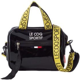 le coq sportif エナメル 2Way ミニハンドバッグ (ブラック)