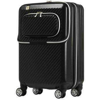 [アウトレット]スーツケース キャリーバッグ キャリーケース LCC機内持込サイズ 小型 XS サイズ ダブルフロントオープン PCポケット 保温保冷ポケット ダブルキャスター 【B-6024-48】