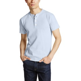 [ヘルスニット] Tシャツ #906S メンズ Sax Blue 日本 M-(日本サイズM相当)