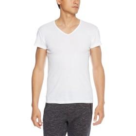 [グンゼ] インナーシャツ YG COTTON COOLシリーズ VネックTシャツ 脇パッド付 短袖 YV0312N メンズ ホワイト 日本 LL (日本サイズ2L相当)