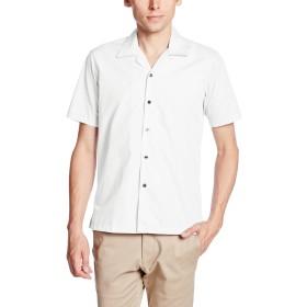 [フェイスミックス] ブロードオープンカラー半袖シャツ FB4529U メンズ ホワイト 日本 M-(日本サイズM相当)