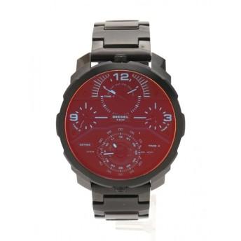 ディーゼル DIESEL MACHINUS マシナス 腕時計 メンズ クオーツ SS 黒 黒文字盤 DZ-7362 メンズ 中古