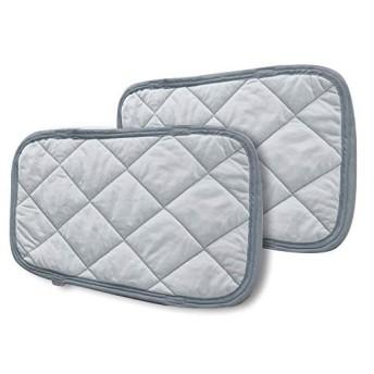 枕パッド 接触冷感 2枚組 ひんやり 抗菌防臭加工 吸水速乾 ひんやり 熱帯夜対策 吸放湿 洗える リバーシブル 涼感 枕カバー2枚 35x50