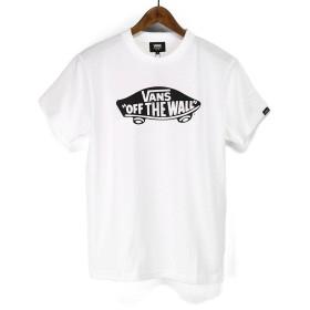 バンズ(VANS) Tシャツ VANS-MT02 SK8 0TW S/ST-Shirts スケボーロゴ プリントTシャツ TEE (ホワイト×ブラック, S)
